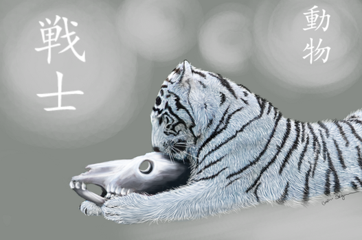 Praying tiger by Chalybis