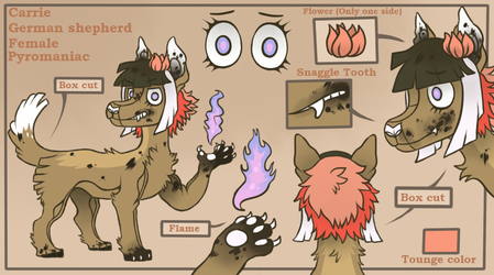 Ref sheet commission for thatspacekitty !! by lizzardblackrose