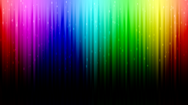Digital Rainbow desktop background by Toreshii-Chann