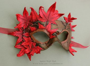 Japanese Maple Leather Mask by windfalcon