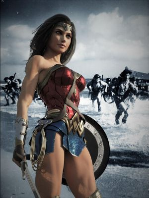 Wonder Woman at Normandy Beach by DahriAlGhul