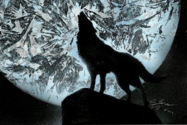 Wolf spray paint by dream4dreamtheater
