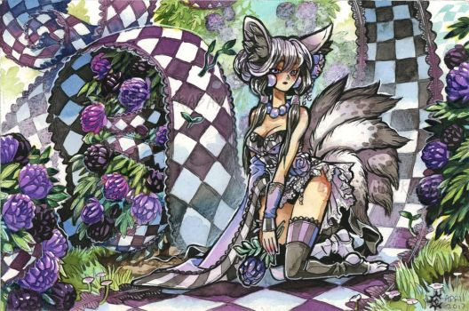 Flowers and Checkers by bezzalair