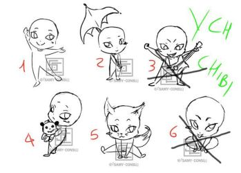 YCH: Chibi poses [OPEN] by Samy-Consu