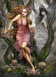 Persephone and Hades by BohemianWeasel