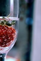 Strawberry in The Glass by freatmah