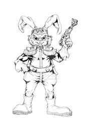 Bucky O'Hare --Uncolored-- by Dragnmastralex