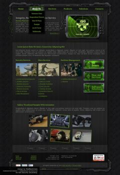 ISG Security Web-Design by modblackmoon