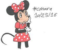 Minnie in thought by cmara