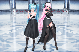 {4000+ Gift Part 2} TDA Magnet Miku and Luka {DL} by HarukaSakurai