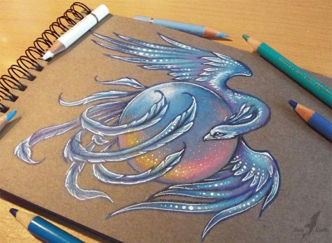 Ice phoenix - tattoo design by AlviaAlcedo