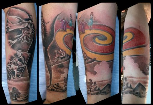 Wizard of Oz sleeve, lower arm by catbones