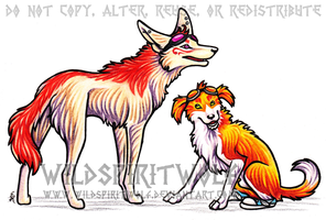 Archie And Zoi Dogs Commission by WildSpiritWolf