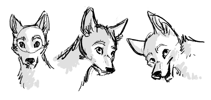 Chico face sketches by Selsea012
