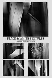 #2 Black And White Texture Pack. by Artinthevein