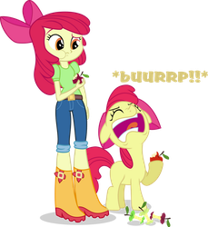 Applebloom and Applebloom by Vector-Brony