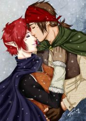 Kiss in the snow by Terion-d-Arien