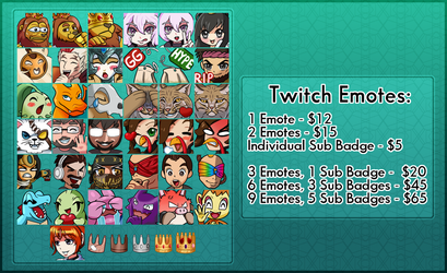 Emote Commission Sheet by darside34