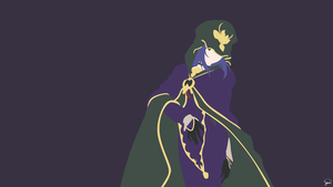Caster (Fate/Stay Night) Minimalist Wallpaper by greenmapple17