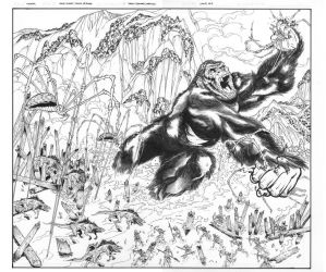 SKULL ISLAND: BIRTH OF KONG #4 cover inks by DrewEdwardJohnson
