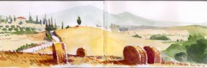 Tuscany on Moleskine 5 by andreuccettiart