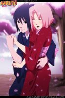 SasuSaku: colored collab ver by zal-sanity