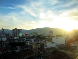 Sunset in Penang by Piaz