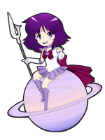 Sailor Saturn Chibi by AurrieChan