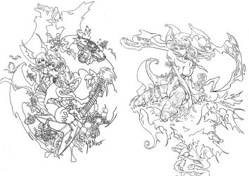 Darkstalkers tribute by SS-Cheong