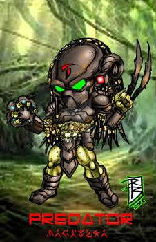 Chibi predator color by BigRob1031