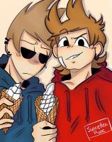 Tomtord Ice cream date [ Art trade ]  by SweetteaRose