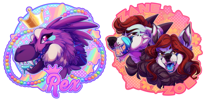 Deluxe Badges by GlistenWolfy