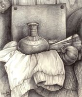 Vase and Cloth by riceater