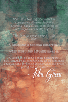 Control - John Green Quote by romancer
