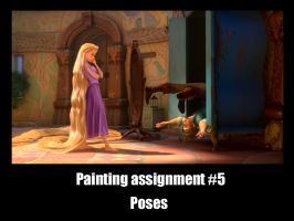 Rapunzel's painting assignment by f4113n-4ng31-0f-r4in