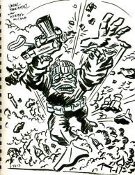 Destroyer Duck tribute art for Jack Kirby by javierhernandez