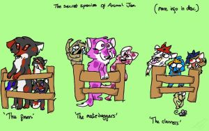 The secret species of Animal Jam by WingedSheWolf