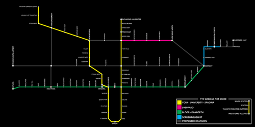 TTC System Map (+ possible expansion) by MKC7162387