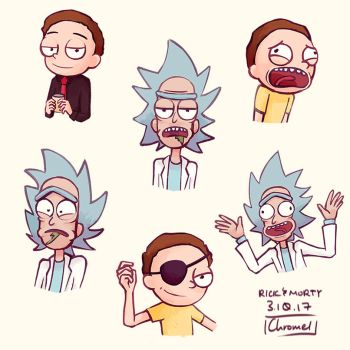 Rick and Morty Stickers by Chromel