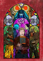 Guardians of the Galaxy stain glass by CharlotteFranks