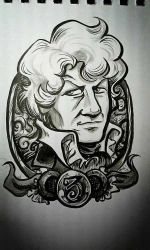 3rd Doctor: warm-up art by rori