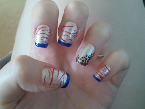 Memorial day nails. by lovely-girl-92