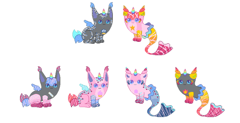 Unicat ~ Breeding #3 (Closed!) by rockythebunny13