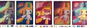 Jirachi Color Practice by AClockworkKitten