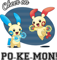 Cheer on PO-KE-MON! (T-Shirt) by IndigoWildcat