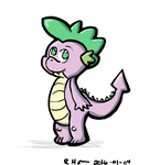 Spike the Dragon by HornCartoons