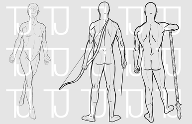 Some character outlines by disturbed-perfection