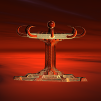 Temple Of The Red Moon1 by infinityfractals