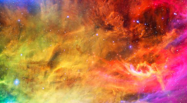 Rainbow Clouds in Space by KihOskh714