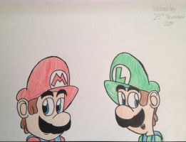 Mario and Luigi by Riyana2